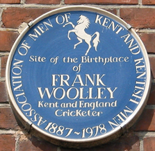 Plaque to Frank Woolley